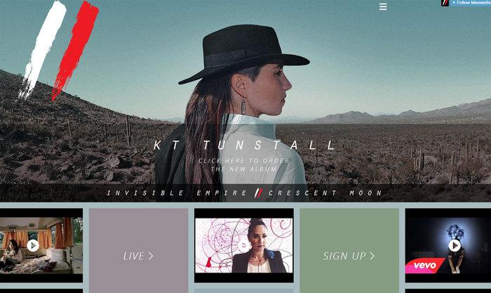 web design of KT