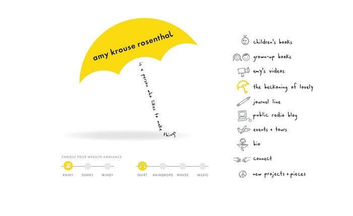 web design of amy