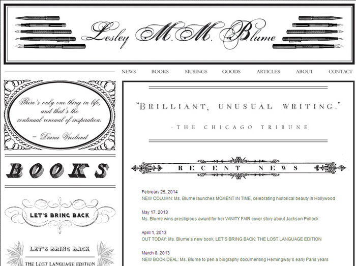 web design of Lesley