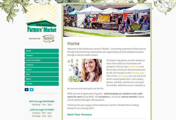 web design of Kalamazoo Farmers Market