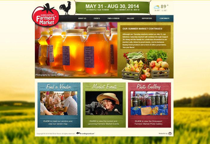 web design of Shreveport Farmers Market