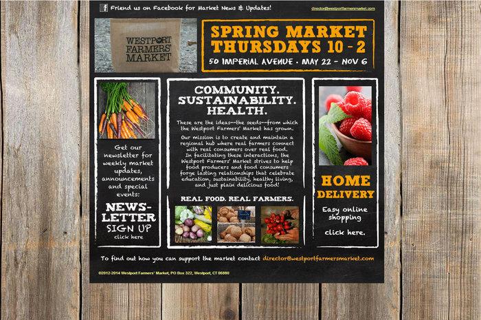 web design of Westport Farmers Market