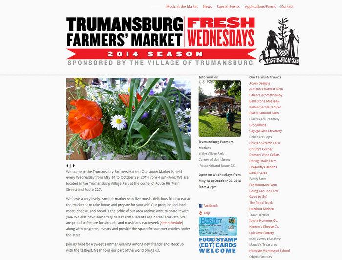 web design of Trumansburg Farmers Market