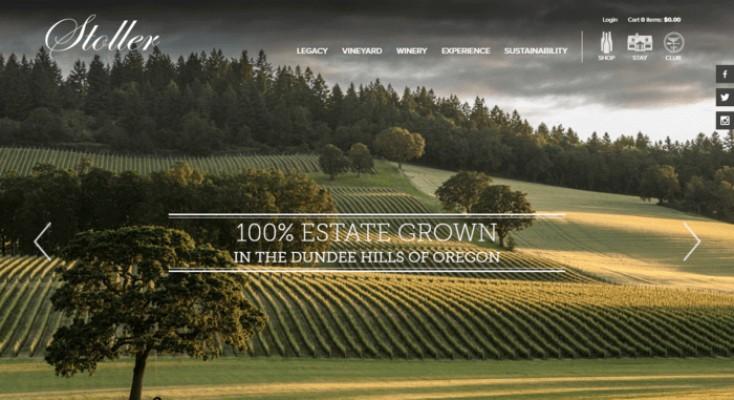 web design of Stoller