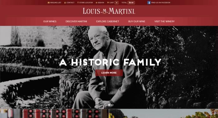 web design of Louis M Martini