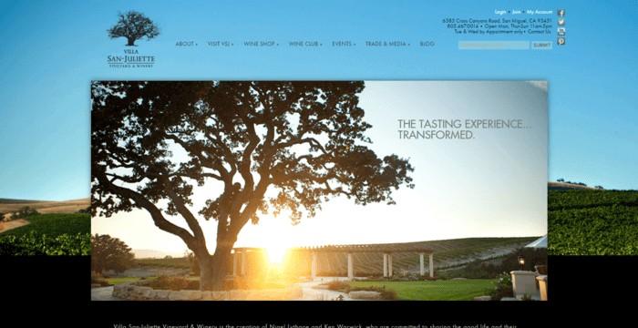 web design of Villa