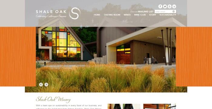 web design of Shale Oak