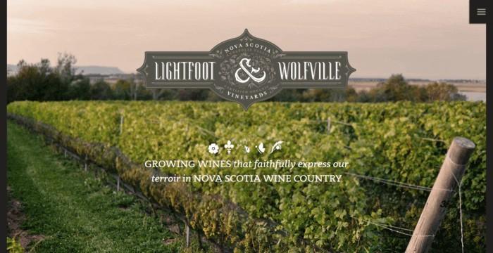 web design of Lightfoot Wolfville