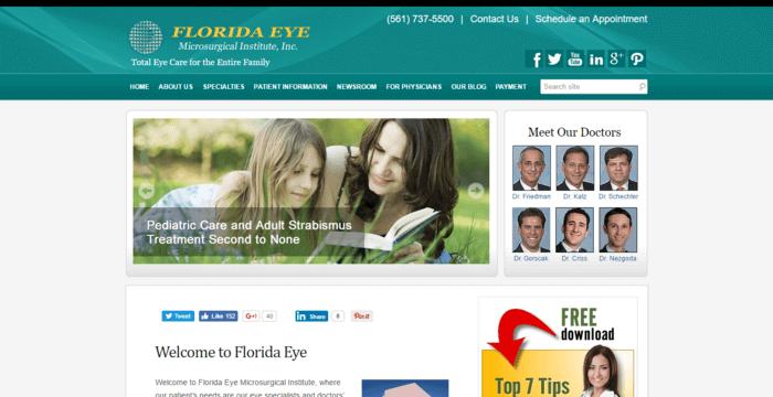 web design of Florida Eye