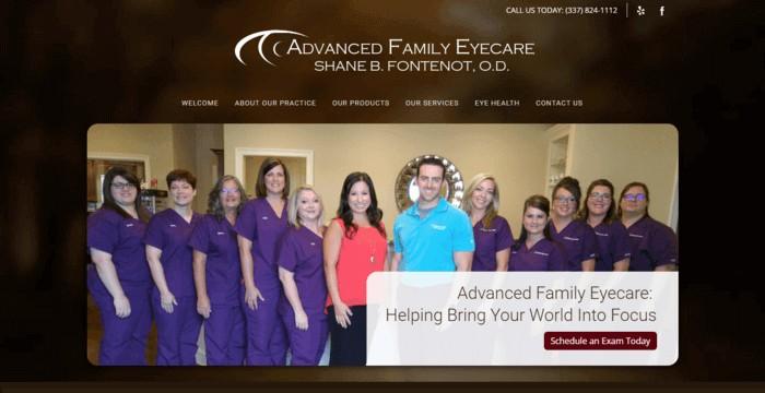web design of Advanced