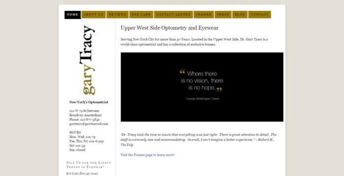 web design of Upper West