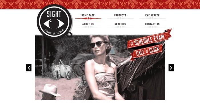 web design of Sight