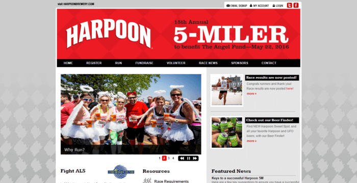 racing web design - harpoon
