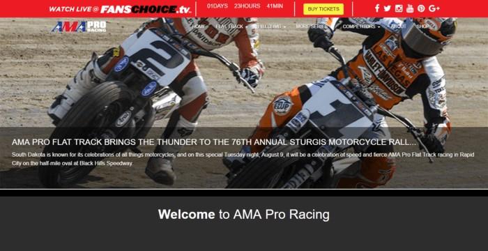 racing web design - AMA racing