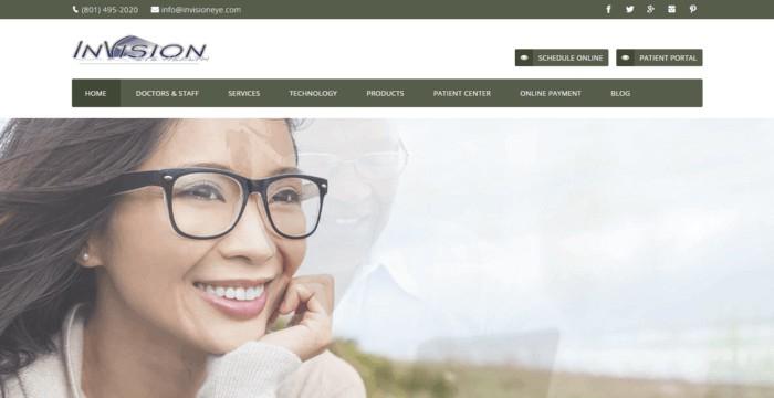 web design of Invision