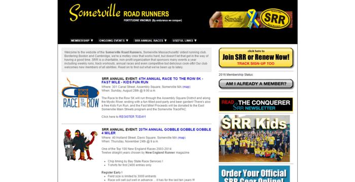 racing web design - srr