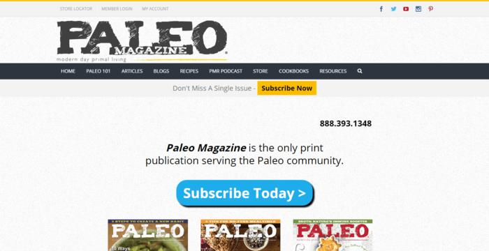 landing page design - Paleo