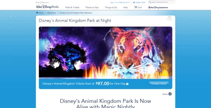 landing page design - Disney