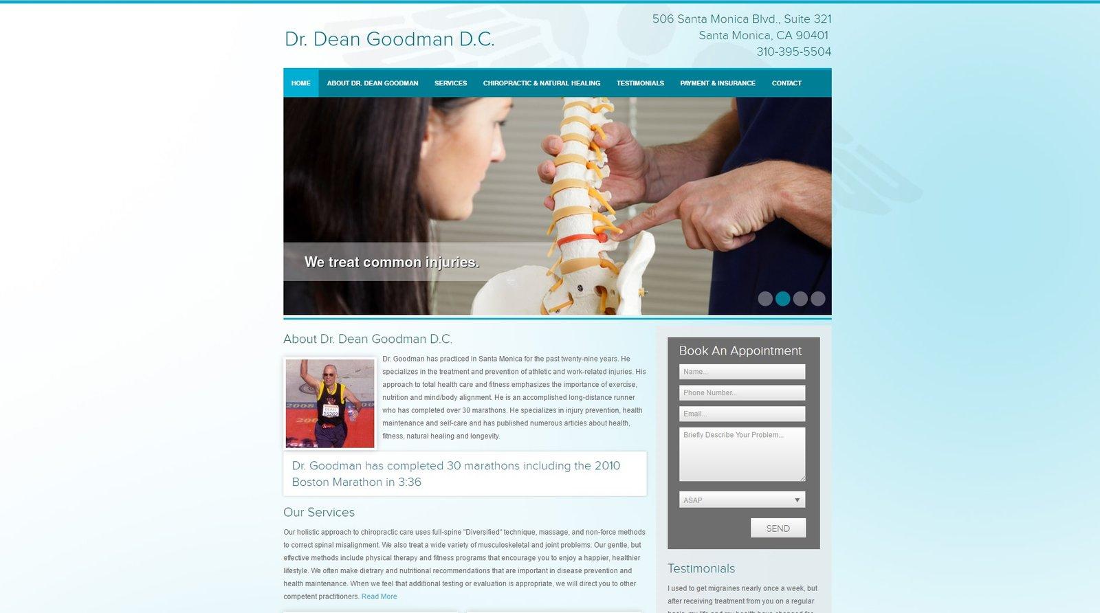 web design for Dr Dean Goodman