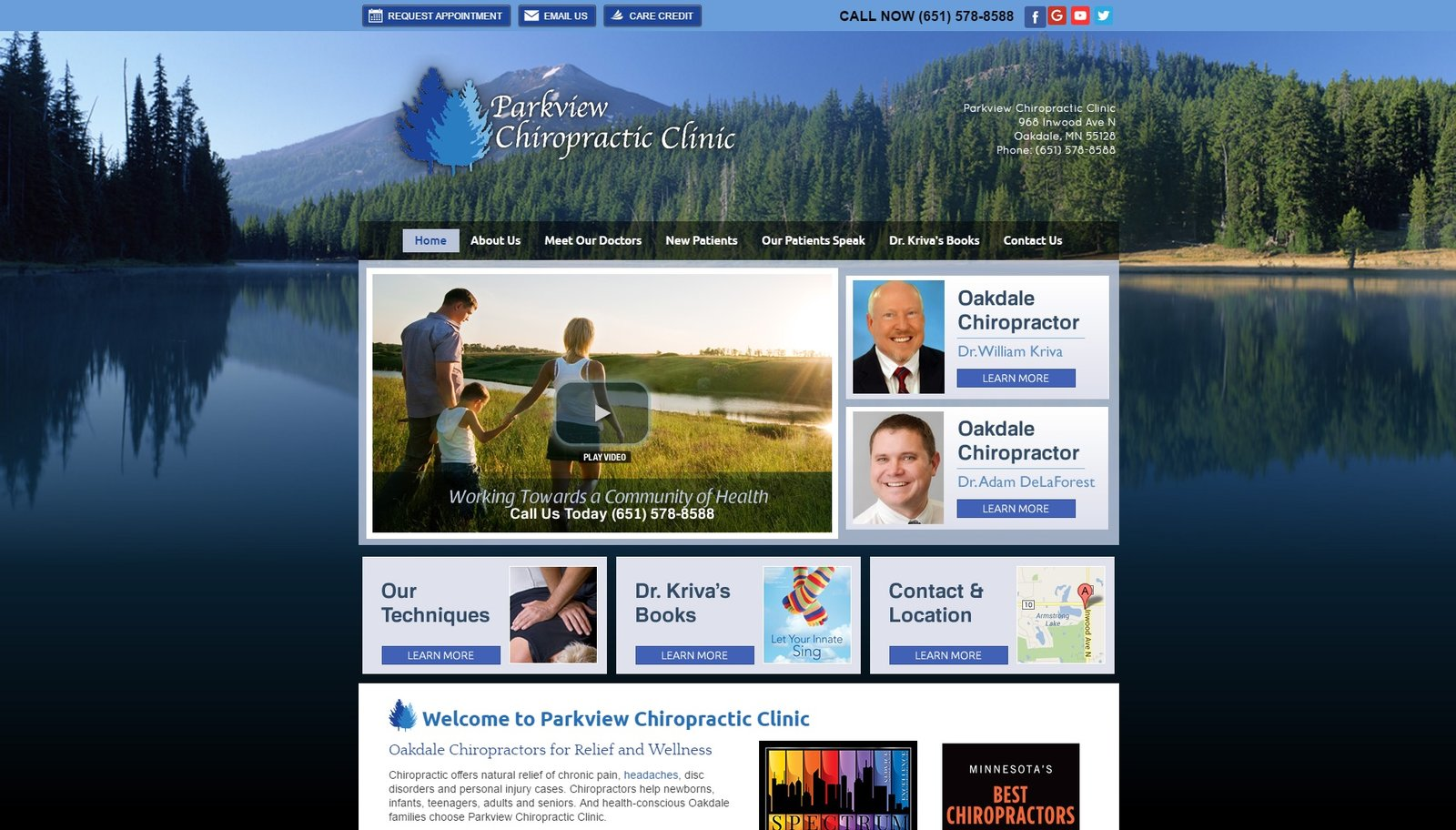 web design for Parkview Chiropractic