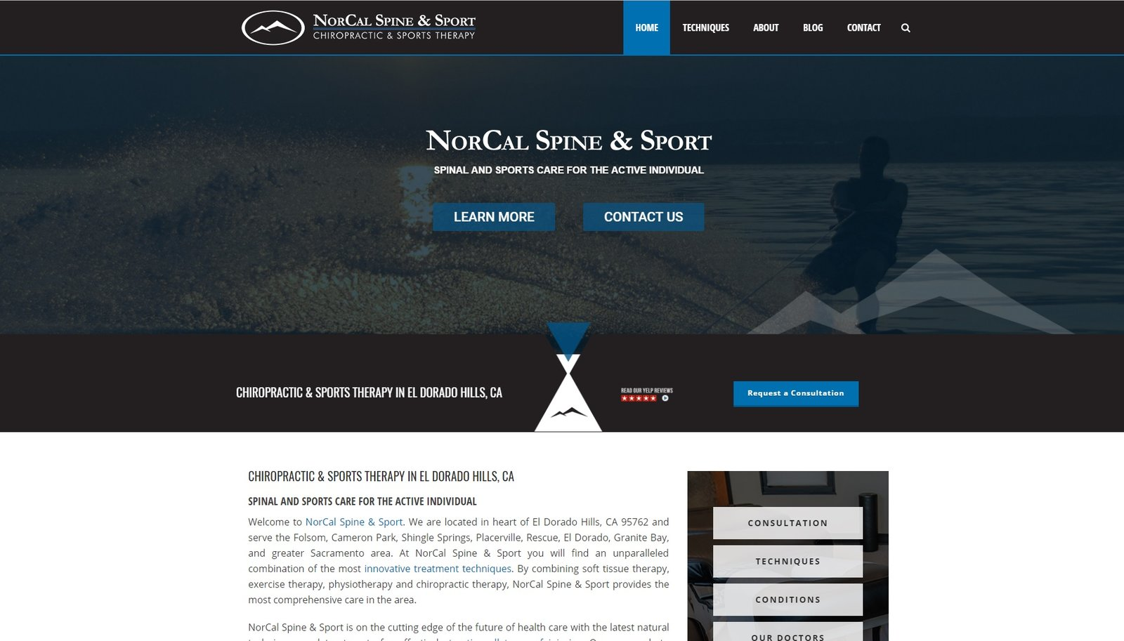 web design for Nor Cal Spine