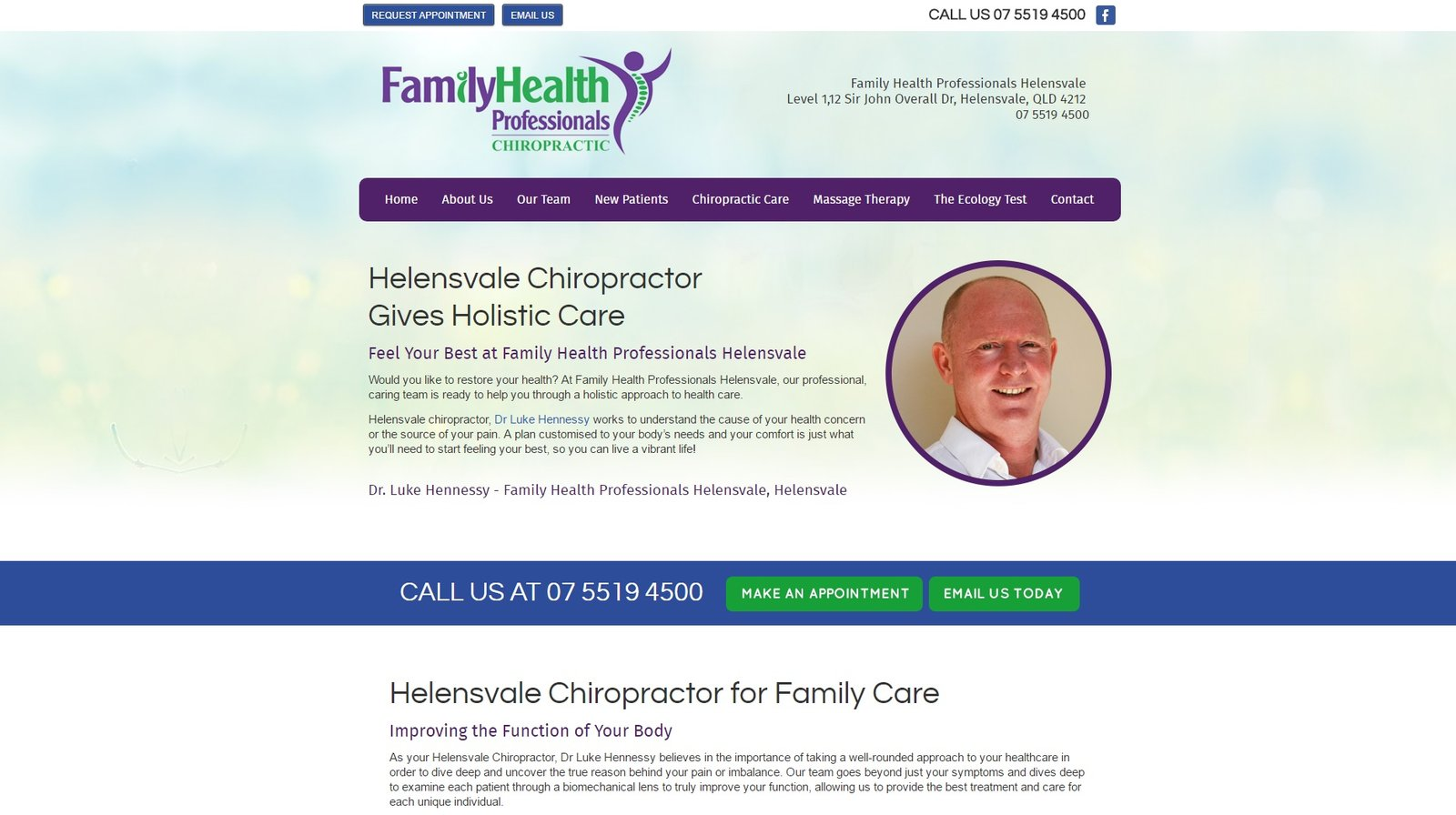 web design for Southport Chiropractic