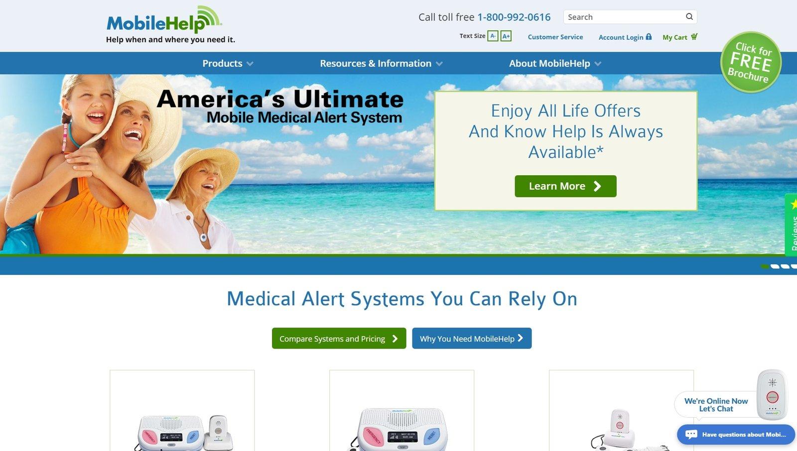web design of MobileHelp