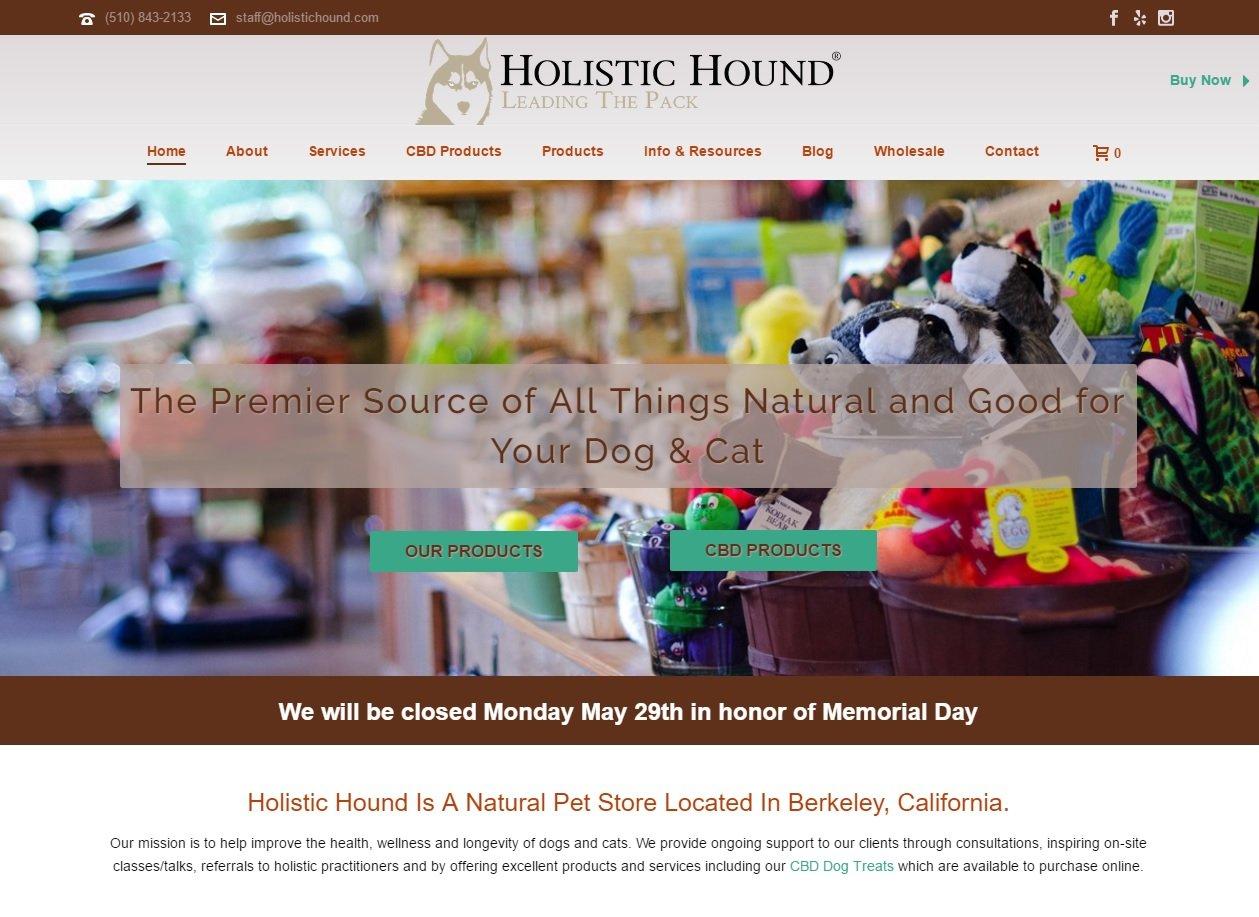 web design of Holistic Hound