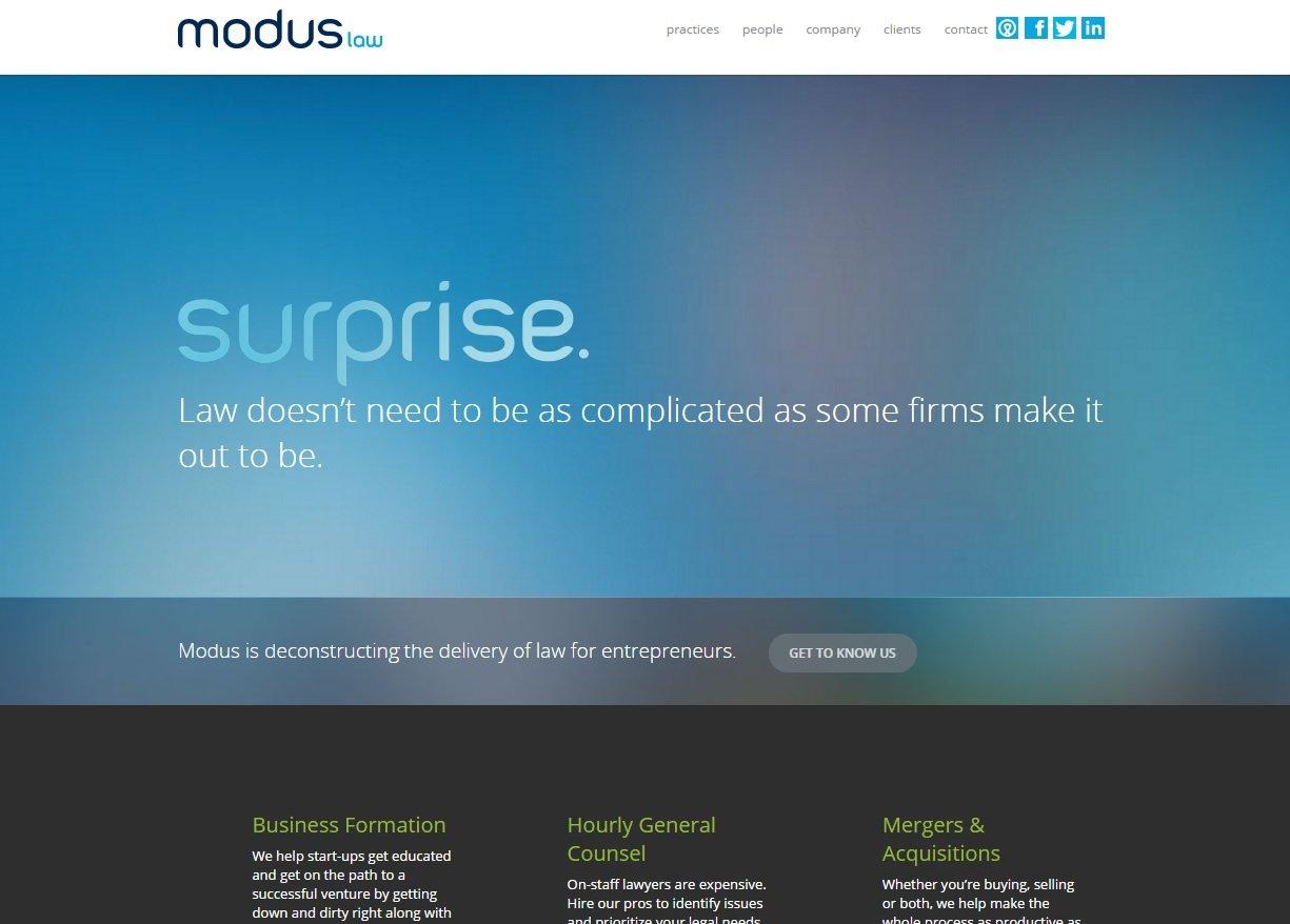 web design of Modus