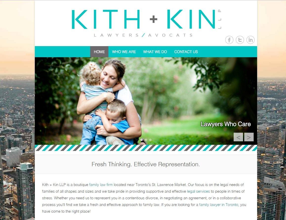 web design of Kith Kin