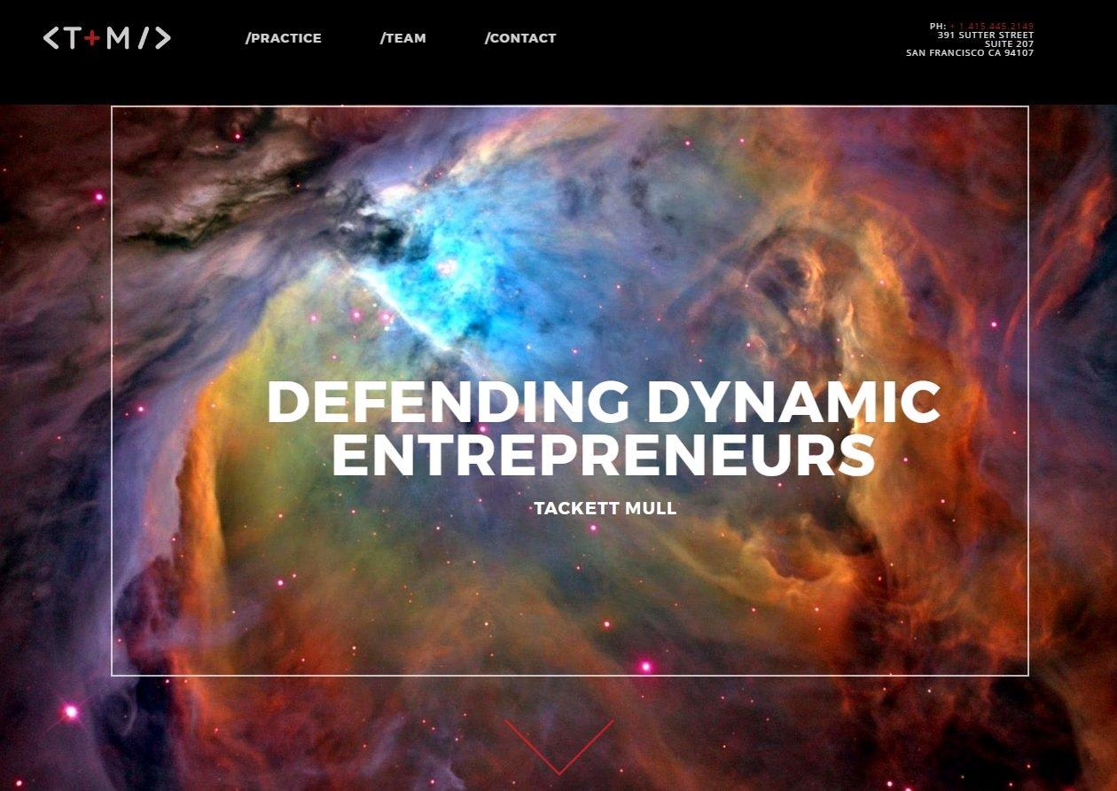 web design of Tackett Mull
