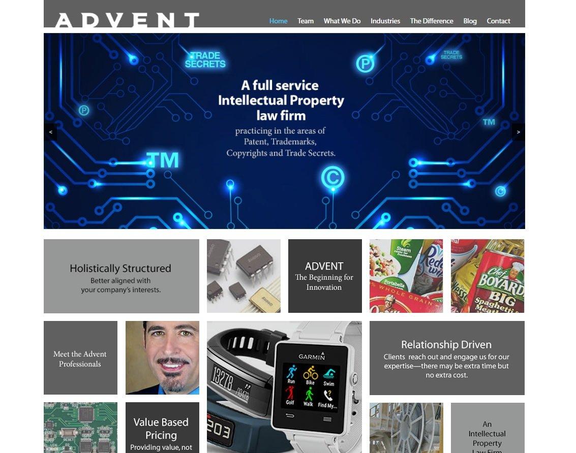 web design of Advent