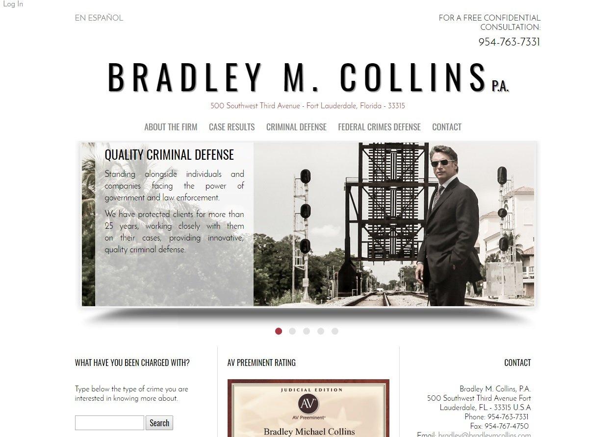 web design of Bradley Collins