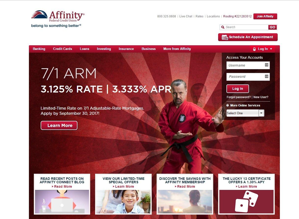web design of Affinity
