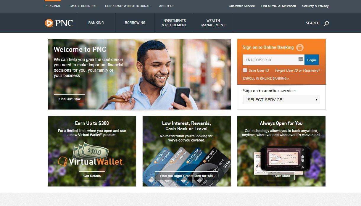 web design of PNC