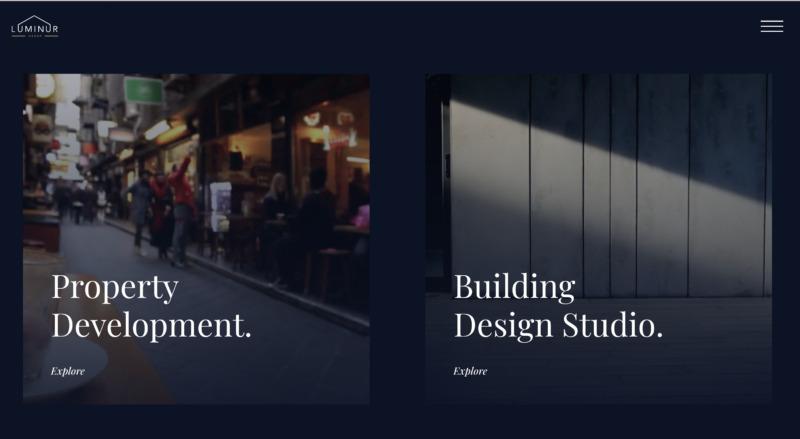 Luminur Group website screenshot